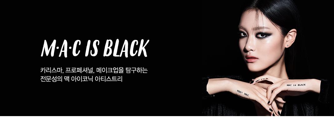 M·A·C IS BLACK